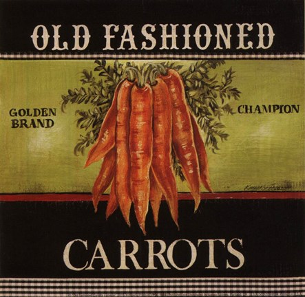 Framed Old Fashioned Carrots - Special Print