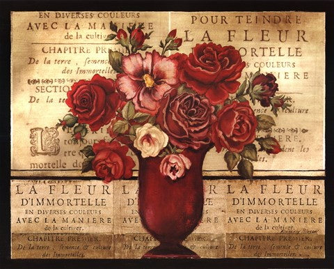 Framed Paris Rose II Print