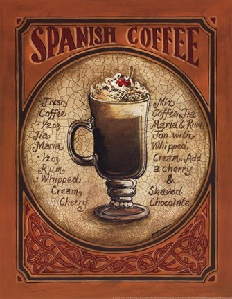 Framed Spanish Coffee - Mini Print