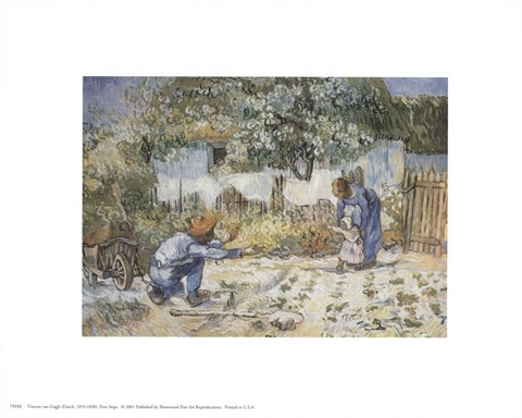Framed First Steps (after Millet), c.1890 Print