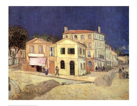 Framed Yellow House, Arles, c.1888 Print
