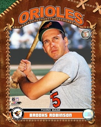 Framed Brooks Robinson - Studio Plus Print