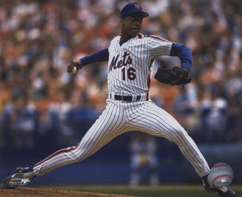 Framed Dwight Gooden - 1988 Action Print