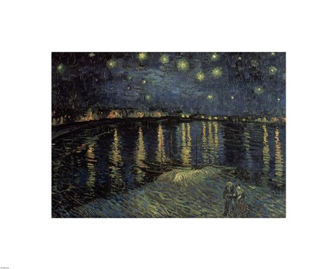 Framed Starry Night over the Rhone, c.1888 Print