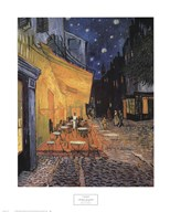 The Cafe Terrace on the Place du Forum, Arles, at Night, c.1888 Art