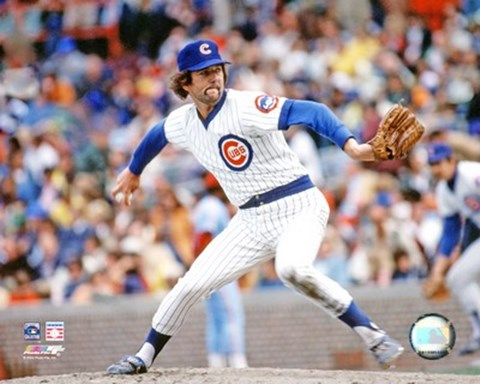Framed Bruce Sutter - Pitching Action (Cubs) Print