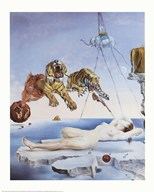 Dream Caused by the Flight of a Bee Around a Pomegranate, A Second Before Awakening, c.1944  Fine Art Print
