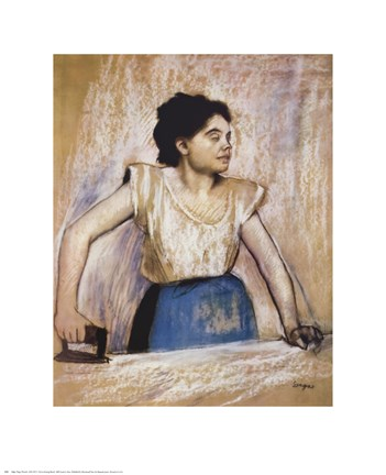 Framed Girl At Ironing Board Print