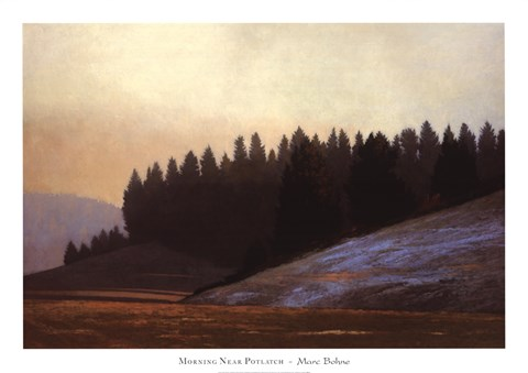 Framed Morning Near Potlatch Print