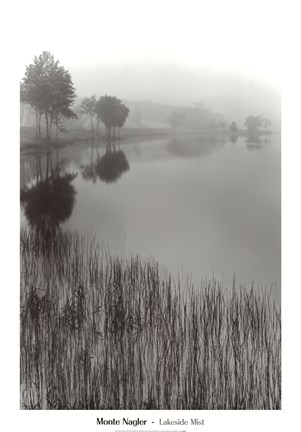 Framed Lakeside Mist Print