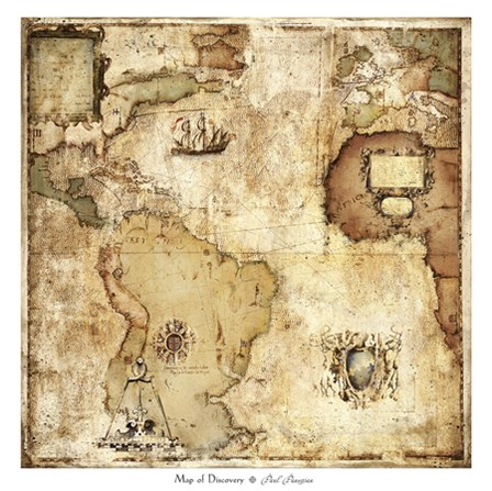 Map of Discovery by Paul Panossian art print