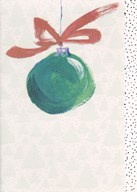 Christmas - red bow  Greeting Card