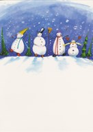 Christmas - snowmen  Greeting Card