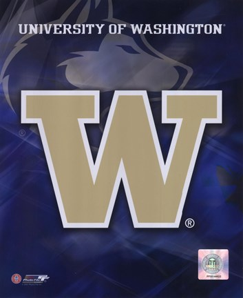 University Of Washington Logo Fine Art Print By Unknown At