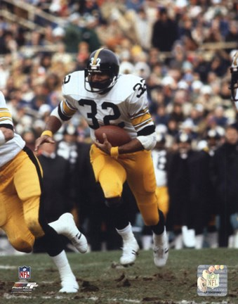Framed Franco Harris - Running With Ball Print