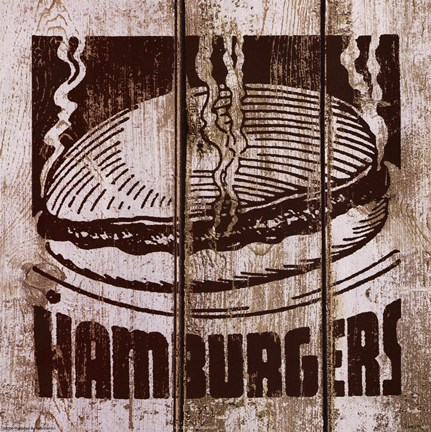 Framed Hamburger Print