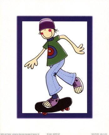 Framed Skater Guy Print