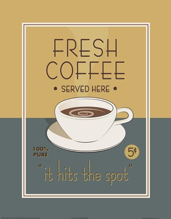 Framed Fresh Coffee Print