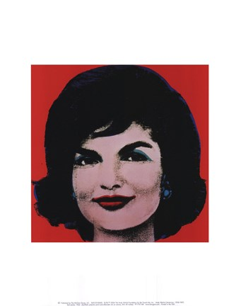 Framed Red Jackie, 1964 Print