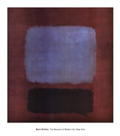 No. 37/No. 19 (Slate Blue and Brown on Plum), 1958