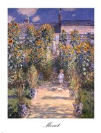 The Artist's Garden at Vetheuil with Boy, c.1880 Art