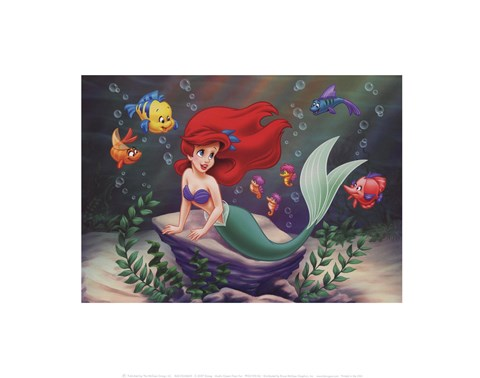 Framed Ariel's Ocean Floor Fun Print