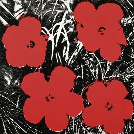Framed Flowers (Red), 1964 Print