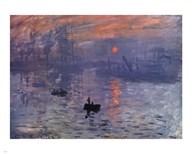 Impression, Sunrise, c.1872 (blue) Art