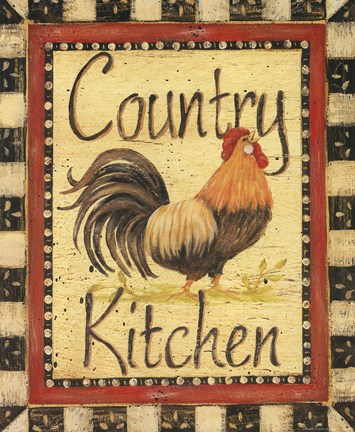Framed Country Kitchen Print