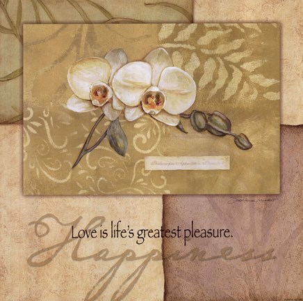 Framed Happiness - Orchid Print