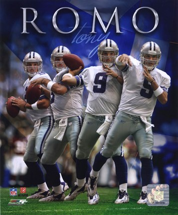 Framed Tony Romo - 2007 Multi-Exposure Print