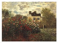 The Artist's Garden in Argenteuil  Fine Art Print
