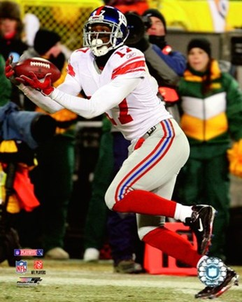 Framed Plaxico Burress 2007 NFC Championship Game Action Print