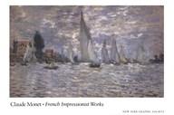 Les Barques, Regates a Argenteuil  Fine Art Print