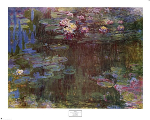 White And Purple Water Lilies 1918 Fine Art Print By