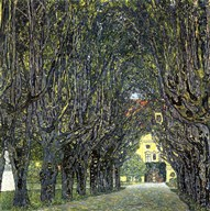 Avenue of Trees in the Park at Schloss Kammer, c.1912 Art