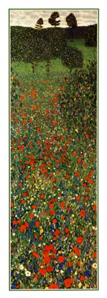 Framed Field of Poppies, c.1907 (detail) - vertical Print