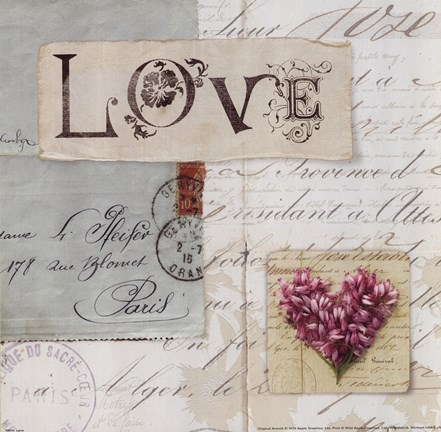 Framed Love Shabby Chic Print