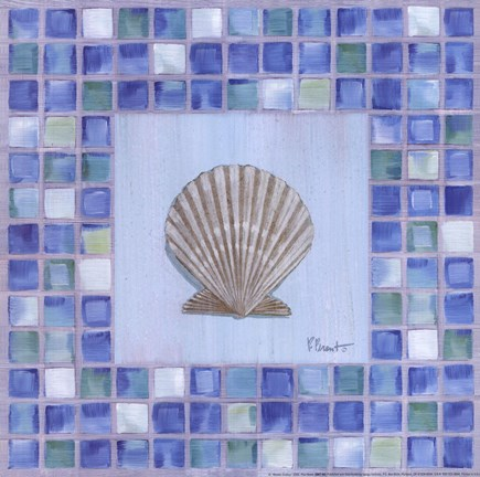 Framed Mosaic Scallop Print