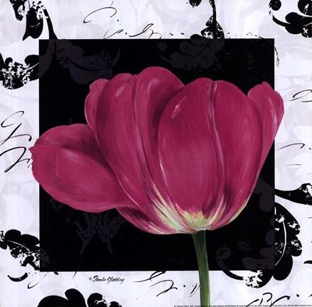 Damask Tulip Ii Fine Art Print By Pamela Gladding At