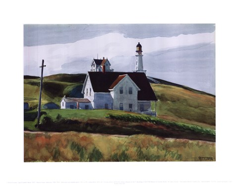 Framed Hill and Houses, Cape Elizabeth, Maine, 1927 Print