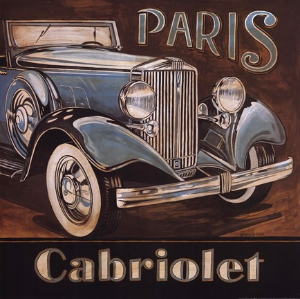 Framed Paris Cabriolet Print