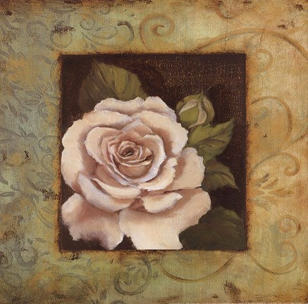 Framed Antique Rose III Print