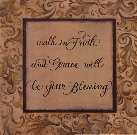 Framed Walk in Faith Print