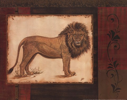 Framed Savanna Lion Print