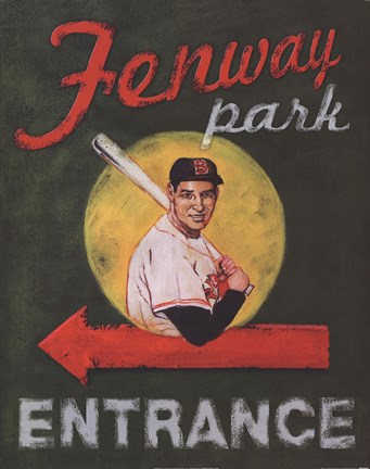 Framed Fenway Park Entrance Print