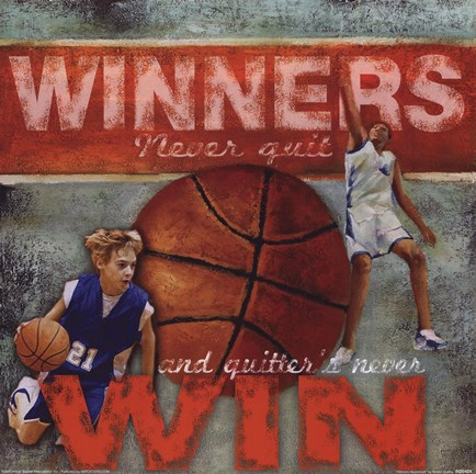 Framed Winners - Basketball Print