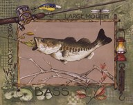 Large Mouth Bass  Fine Art Print