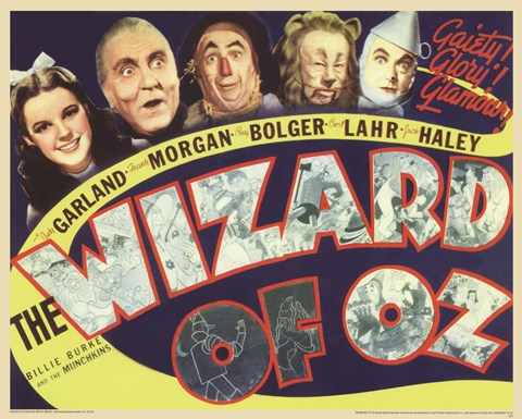 Framed Wizard of Oz - Retro Print