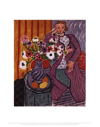 Purple Robe and Anemones, 1937 Fine-Art Print by Henri Matisse at ...